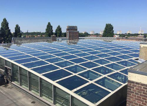 Glazen dak Het Sieraad Amsterdam
